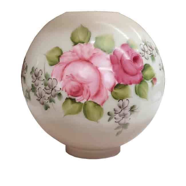 Rose Ball Shade, Hand Painted