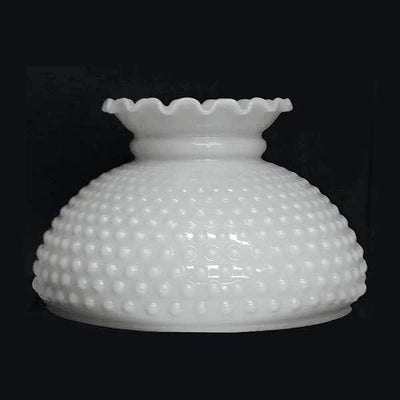 "Opal Glass Hobnail Lamp Shades, 10"" fitter"