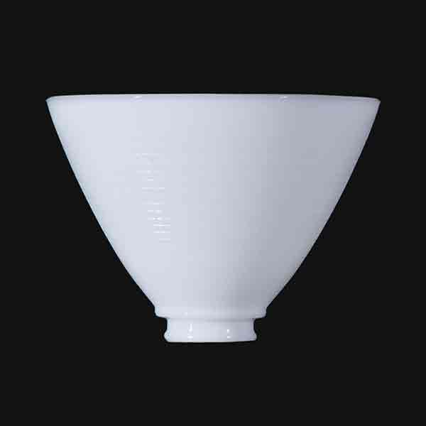 "White Glass IES Reflector Shades, 2-1/4"" x 5-3/4"""