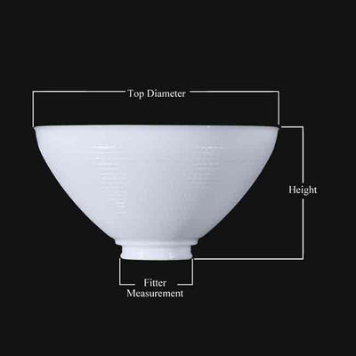 Measurement Diagram for IES Reflector Lamp Shades
