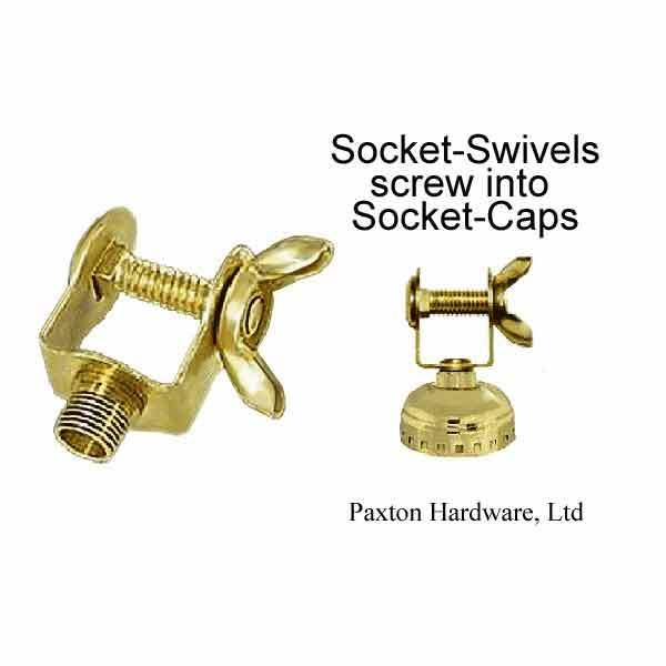 Lamp Socket Swivels, Wing Nut