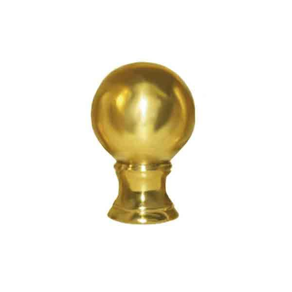 Brass Ball Lamp Finials, 1/8IP - paxton hardware ltd