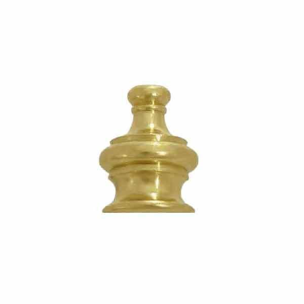 "Brass Crown Finials screw onto 3/8"" lamp pipe 1/8IP"