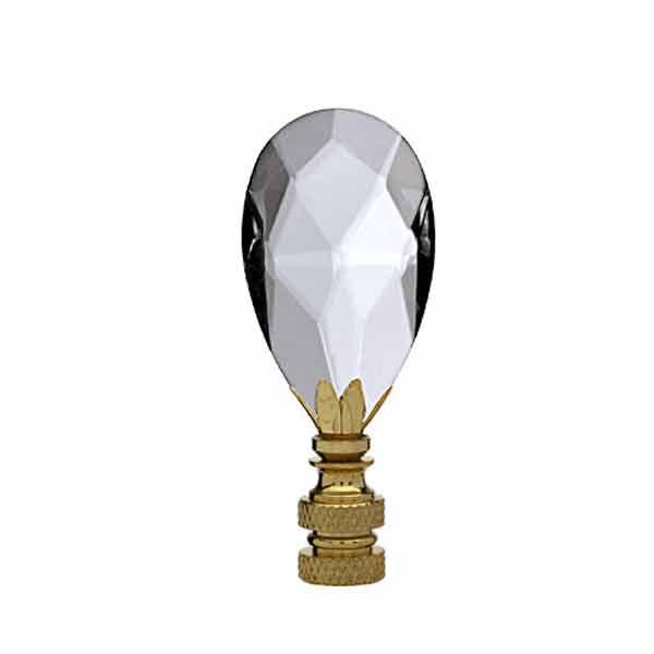 Crystal Lamp Finial, Teardrop - paxton hardware ltd