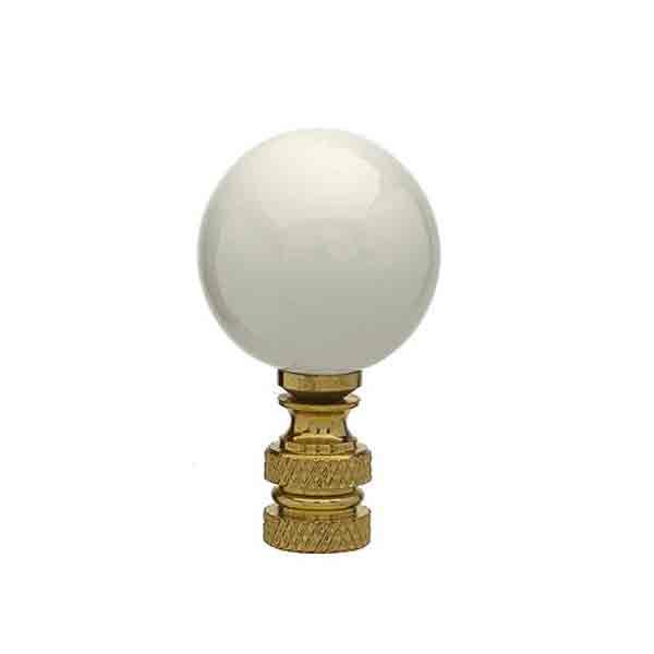 Ceramic Lamp Finials, White - paxton hardware ltd