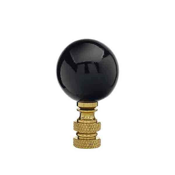Ceramic Lamp Finials Black Paxton Hardware Ltd