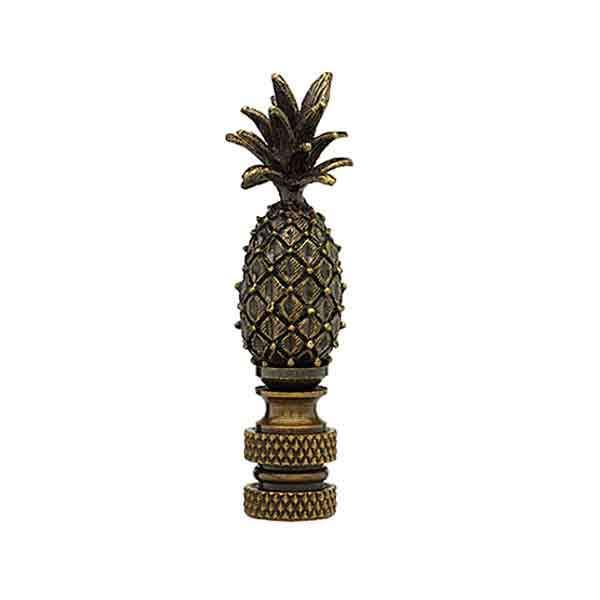 Antique Brass Lamp Finial, Pineapple - paxton hardware ltd