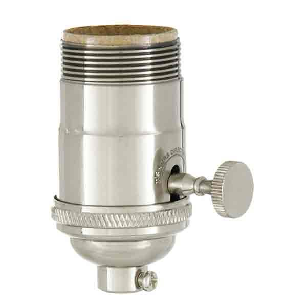 Premium Nickel Lamp Sockets - paxton hardware ltd