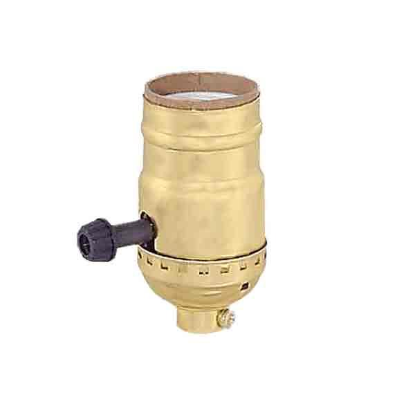 Brass Lamp Sockets, 3-way - paxton hardware ltd
