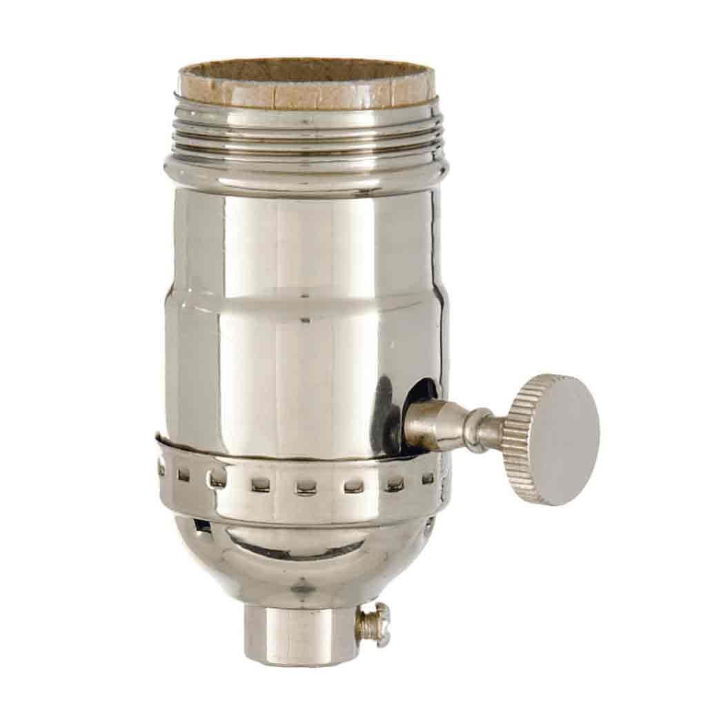 Nickel 3 Way Lamp Sockets - paxton hardware ltd