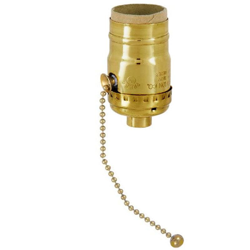 Brass Pull Chain Lamp Sockets - paxton hardware ltd