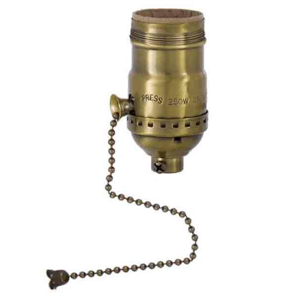 Pull Chain Antique Brass Lamp Sockets