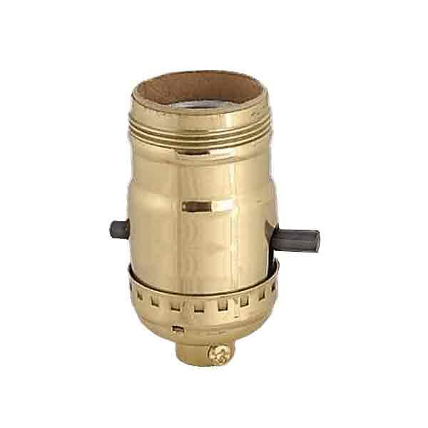 Push Thru Brass Uno Lamp Sockets