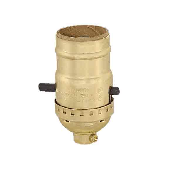 Brass Push Thru Lamp Sockets - paxton hardware ltd