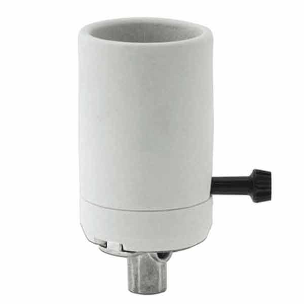 Large White Porcelain Mogul Lamp Sockets
