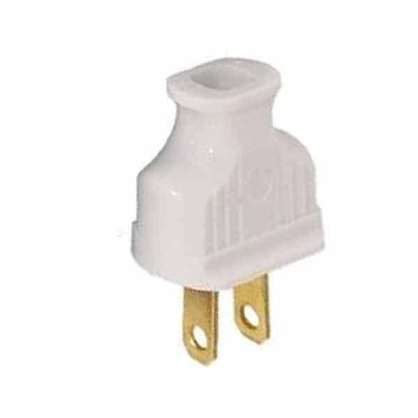 White Bakelite Lamp Plugs - paxton hardware ltd