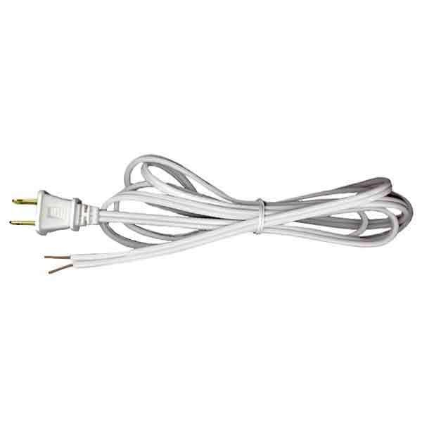 White Lamp Cord Sets, 8 Foot SPT1 - paxton hardware ltd