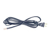 Black 12 Foot Lamp Cords with Plugs,  SPT2 - paxton hardware ltd