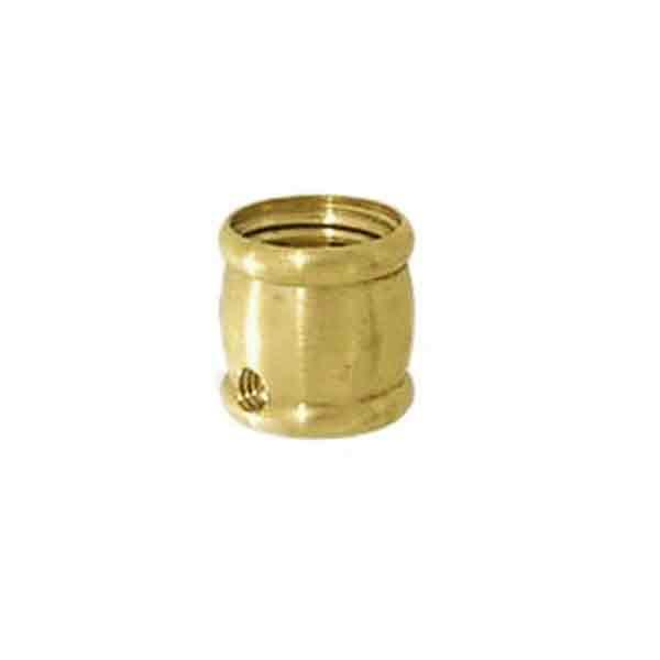 Brass Lamp Couplings, 1/4IPF x 1/4IPF, Side outlet - paxton hardware ltd