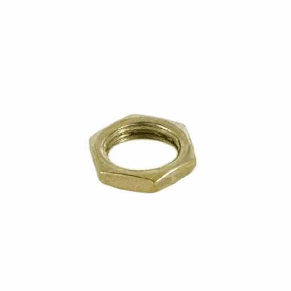 Brass Hex Nut, 1/8 IP - paxton hardware ltd