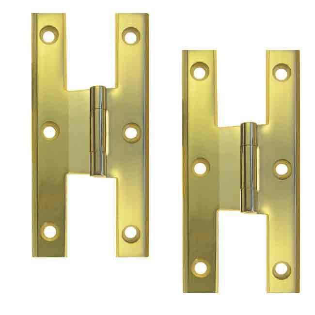Offset Colonial H Hinges, Brass - paxton hardware ltd