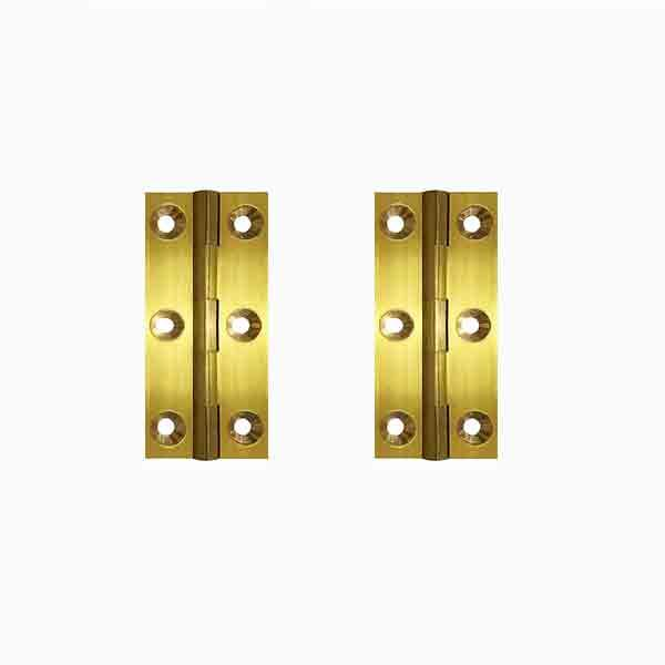 Brass Furniture Hinges, height 1-1/2 x  7/8 - paxton hardware ltd