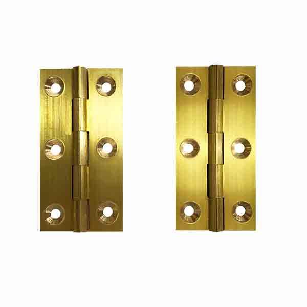 Brass Furniture Hinges, height 2 x 1-1/8 - paxton hardware ltd