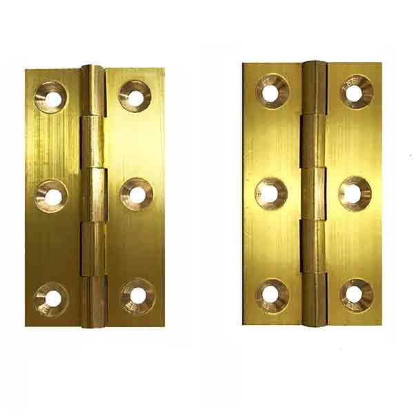 Brass Furniture Hinges, height 2-1/2 x 1- 3/8 - paxton hardware ltd