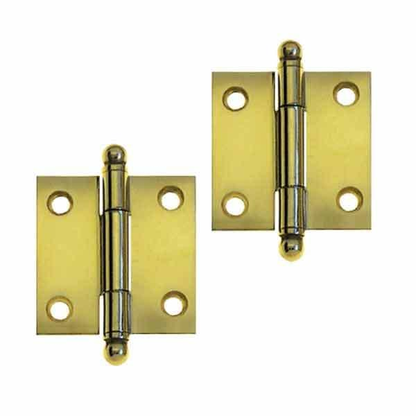 Brass Cabinet Hinges, 1-1/2 inch