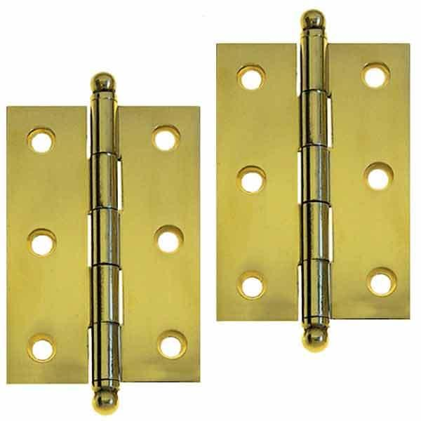 Brass Cabinet Hinges, 2-1/2 inch - paxton hardware ltd