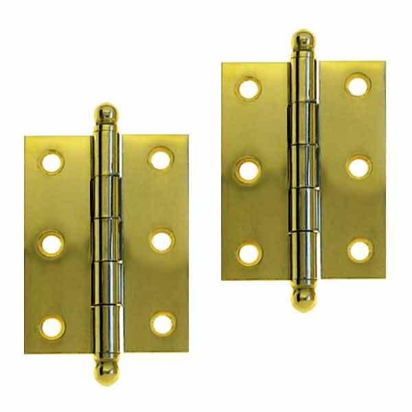 Brass Cabinet Hinges, 2 inch - paxton hardware ltd