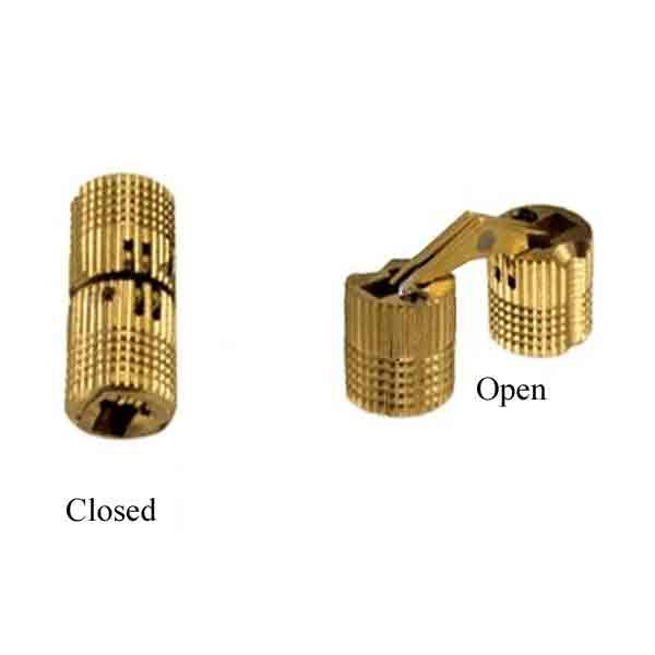 Brass Cylinder Hinges, 12mm - paxton hardware ltd