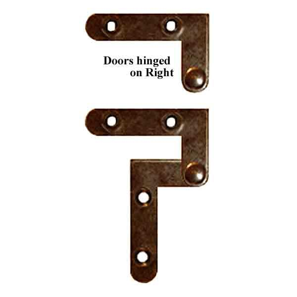 Knife Hinges, doors hinged on right - paxton hardware ltd