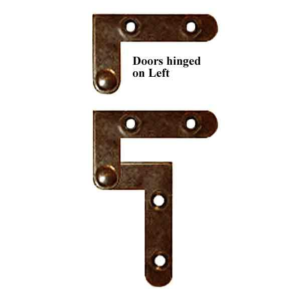 Knife Hinges, doors hinged on left - paxton hardware ltd