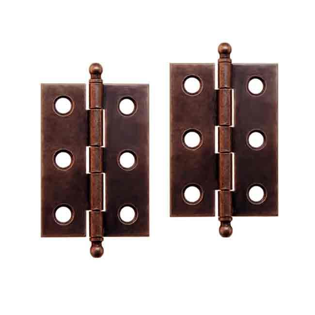Antique Copper Hinges with removable pin for cabinet doors - Antique Hinges For Cabinets - Paxton Hardware Ltd