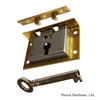 Brass Box Locks, 7/8 to pin - paxton hardware ltd