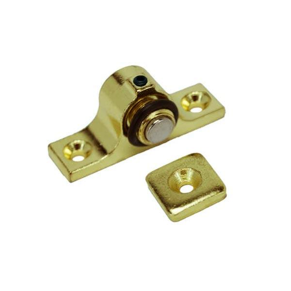 Adjustable Magnetic Catch, Brass Plated - paxton hardware ltd