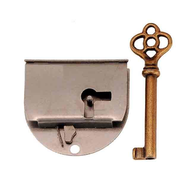 Rounded Steel Lock, doors hinged left - paxton hardware ltd
