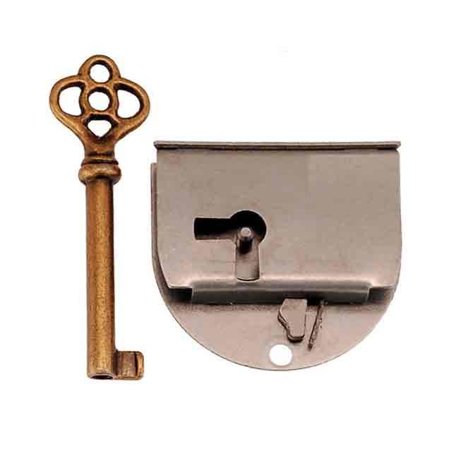 Rounded Steel Lock, doors hinged right - paxton hardware ltd