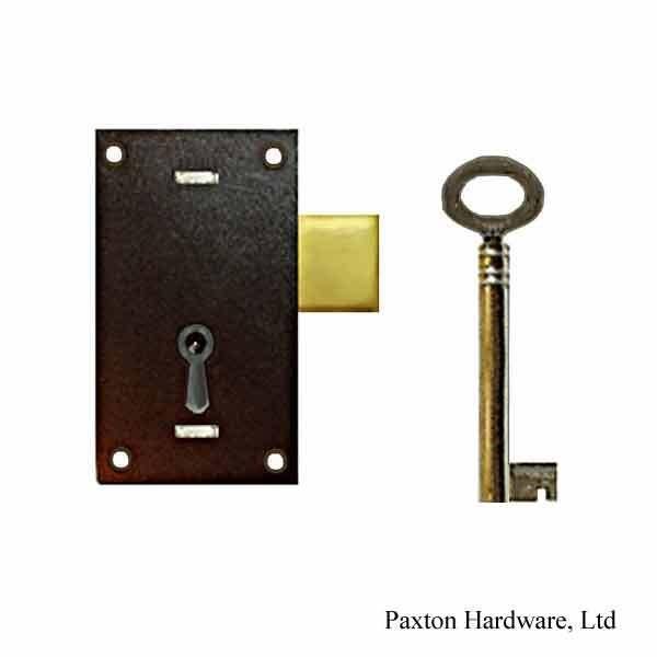 Japanned Door Lock, 5/8 to-pin - paxton hardware ltd
