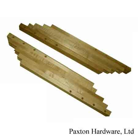 "Generous Wood Table Slides accepts 4- 12"" leaves, use on dividing base and four leg tables"