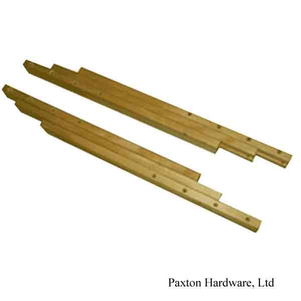 Wood Table Slides, 38 inch Leaf Opening - paxton hardware ltd