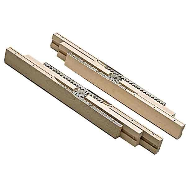 Gear Table Slides, 25-1/2 inch Leaf Opening - paxton hardware ltd