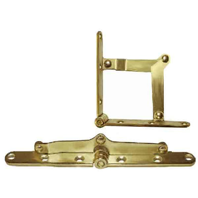 Brass Plated Desk Lid Hinge Supports - paxton hardware ltd