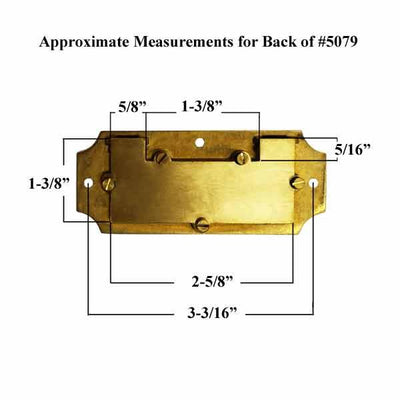 Measurement for Back of  3-9/16 inch Campaign Handle