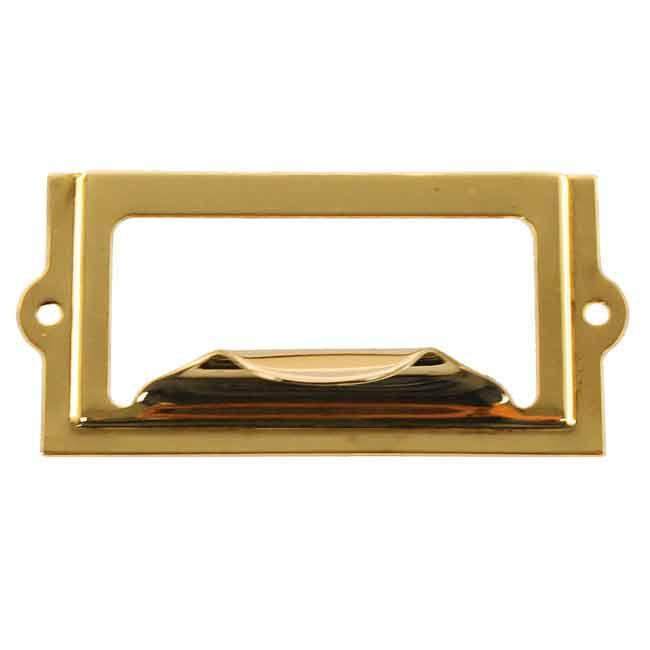 Economical Brass Label Holders - paxton hardware ltd