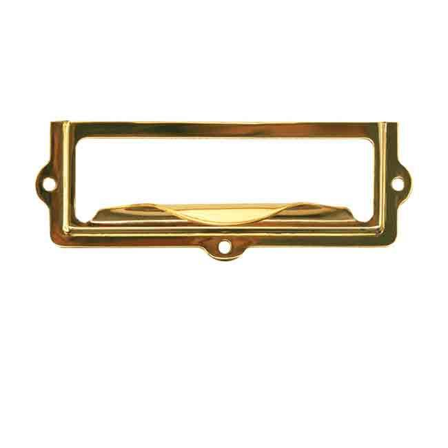 Small  Brass Label Holders - paxton hardware ltd