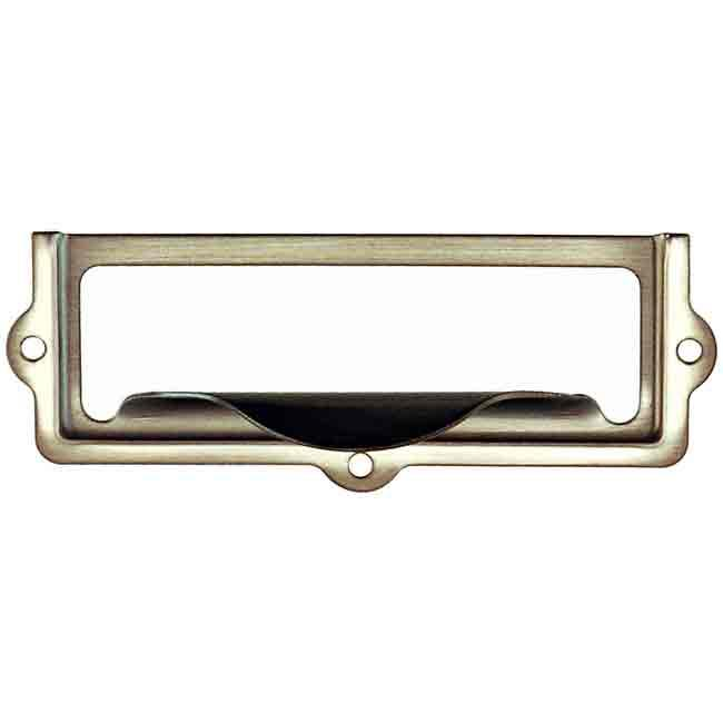Small Vintage Label Holders, nickel - paxton hardware ltd