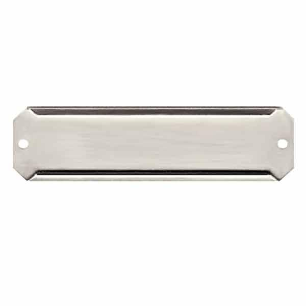 Easy to use Aluminum card holders are useful for large numbers of mail slots or shelves, made in USA