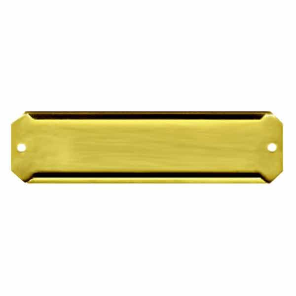 Brass Shelf Label Holders, 1 inch - paxton hardware ltd